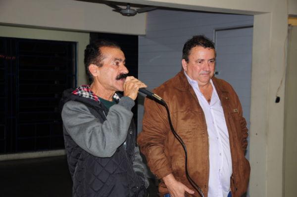 O presidente Zequinha e o vice-presidente da Força RJ, Luiz Rogério de Freitas, conduzem a assembleia